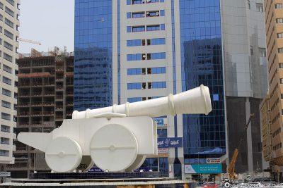 White cannon in Abu Dhabi