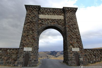 The eastern exit of Yellowstone National Park