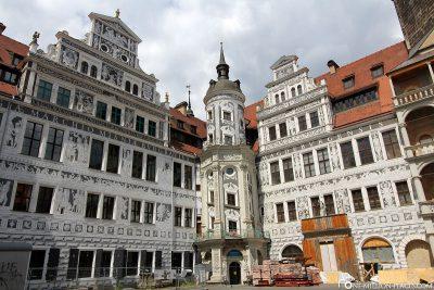 The inner courtyard of Dresden Castle