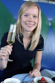 Zur Begrüßung einen Champagner