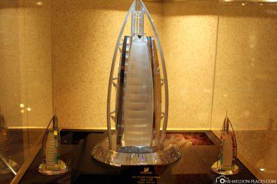 Eine Miniatur des Hotels