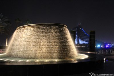 The fountain at the entrance of the hotel