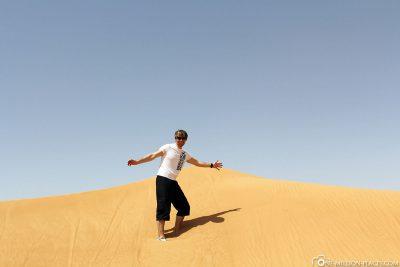 A desert safari in Dubai