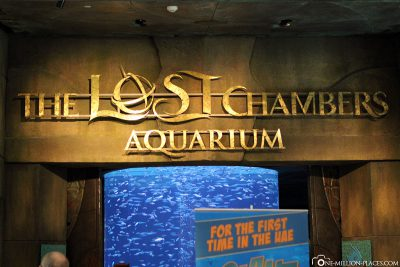 The entrance to The Lost Chambers Aquarium