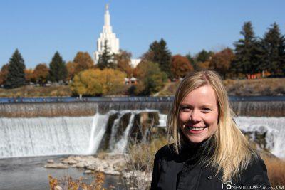 The waterfalls in Idaho Falls