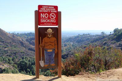 Hinweise vor Brandgefahr