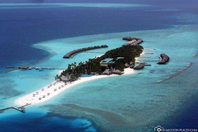 Ankunft an der Insel Veligandu