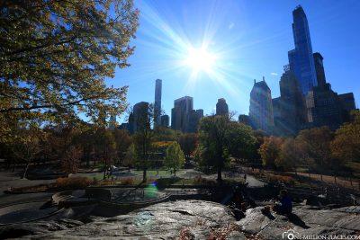 Der Umpire Rock im Central Park
