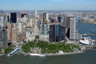 Der Battery Park an der Südspitze von Manhattan