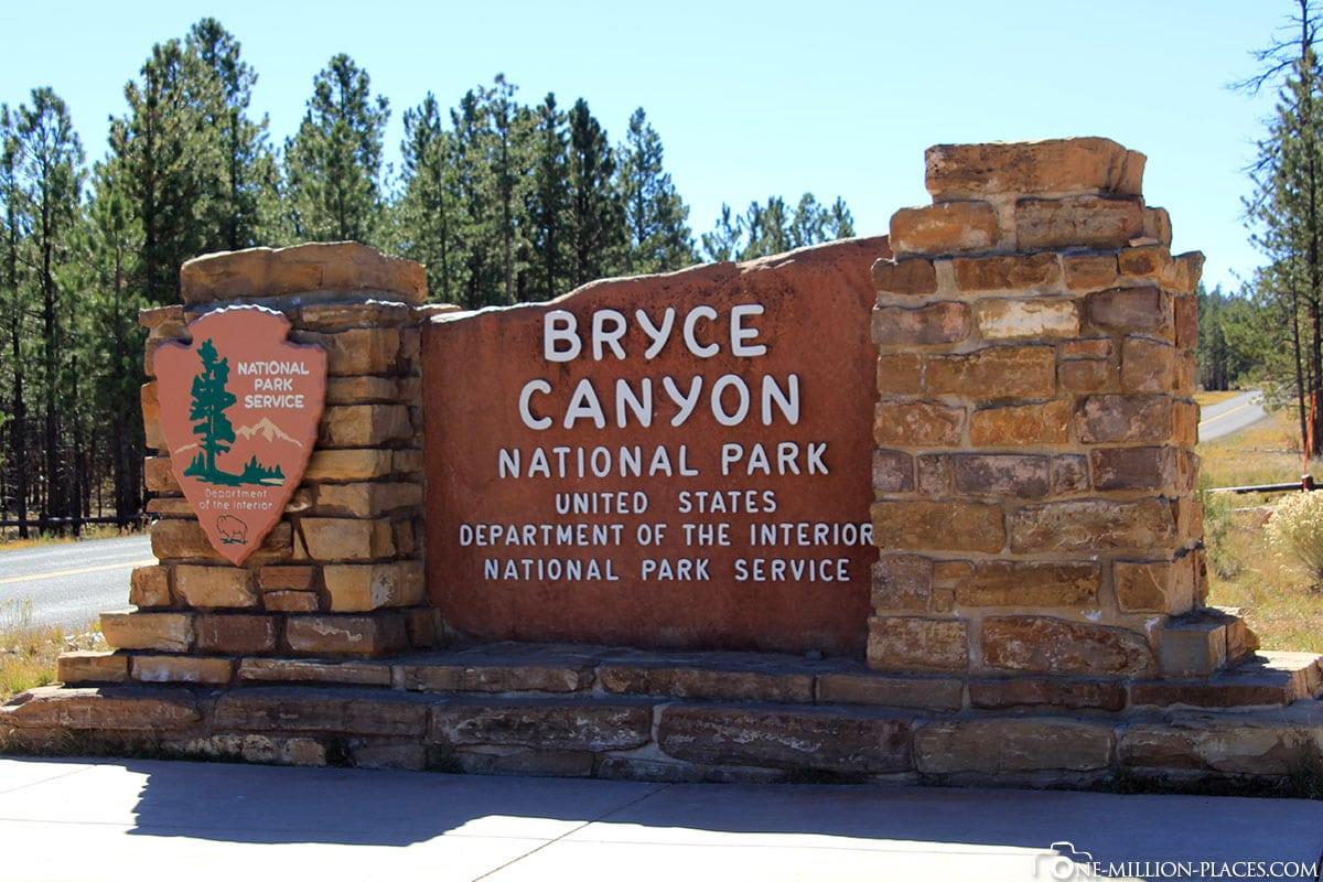 Eingang, Bryce Canyon, Nationalpark, Utah, USA; Auf eigene Faust, Reisebericht