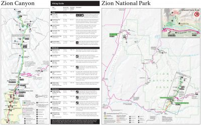 A map of Zion National Park