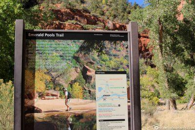 The Emerald Pools Trail