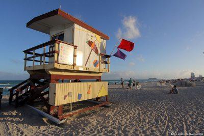 Lifeguard-Turm in Miami