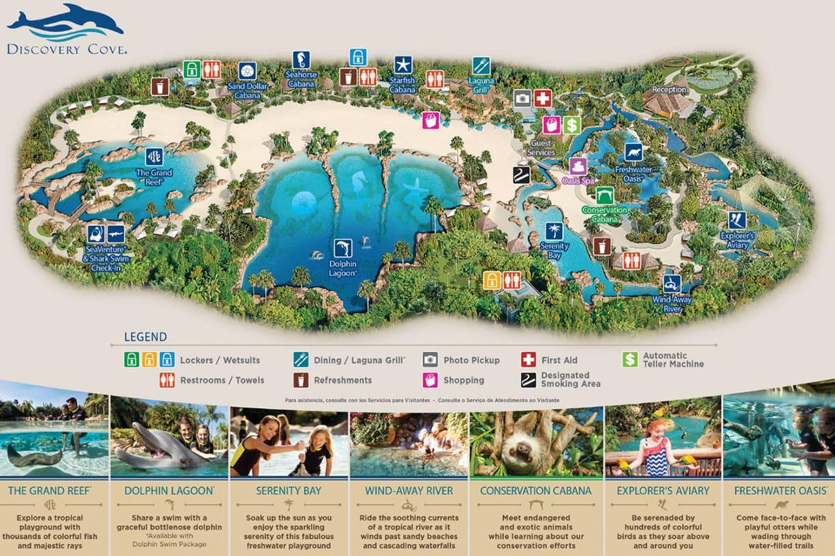 Orlando Discovery Cove Karte