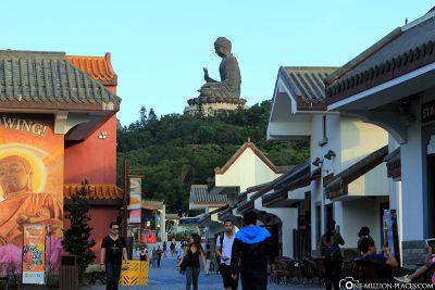 Das Ngong Ping Village am Fuße des Big Buddha
