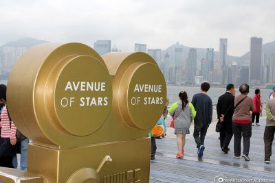 Die Avenue of the Stars am Victoria Harbour