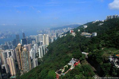 Die Aussicht vom Victoria Peak auf Hong Kong