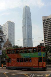 Die doppelstöckigen Straßenbahnen in Hong Kong