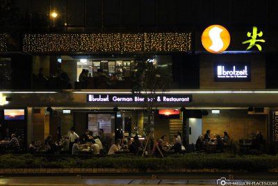 Das Restaurant Brotzeit in Hong Kong
