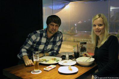 Essen im Restaurant Brotzeit