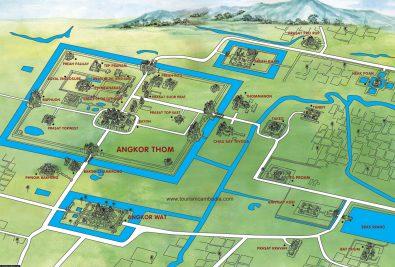 A map of Angkor Wat