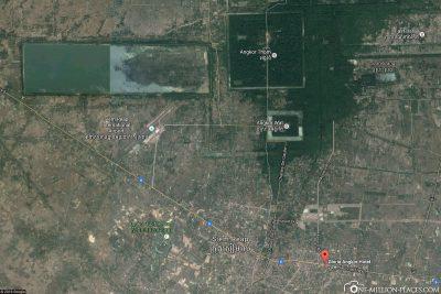 The location of Gloria Angkor Hotel