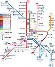 Die Metro Map von Kuala Lumpur
