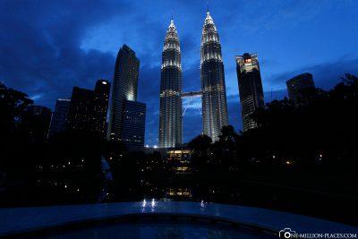 Die Türme im Abendlicht