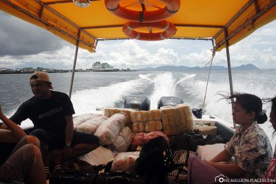 The boat transfer to our resort