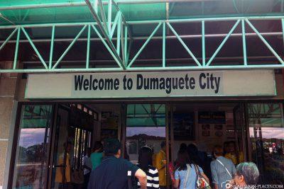 Ankunft am Flughafen in Dumaguete City