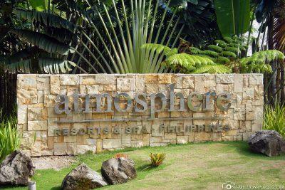 Der Eingang zum Hotel Atmosphere Resorts & Spa