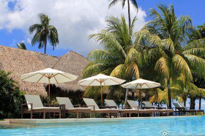 The beautiful pool at the resort