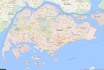 Singapur in Google Maps