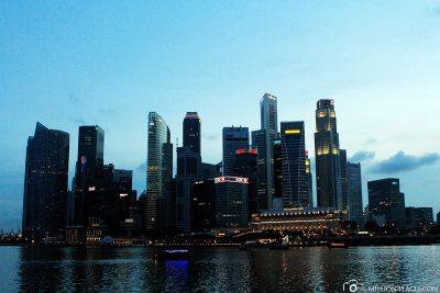 Die Skyline der Stadt