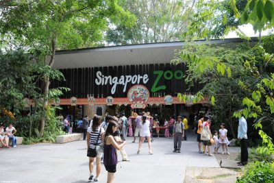 The entrance to the zoo