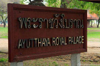 Der Königspalast in Ayutthaya