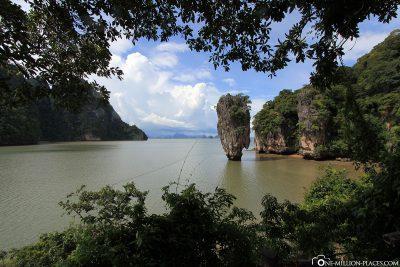 The rock pin Khao Ta-Pu