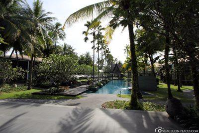 Die schöne Hotelanlage