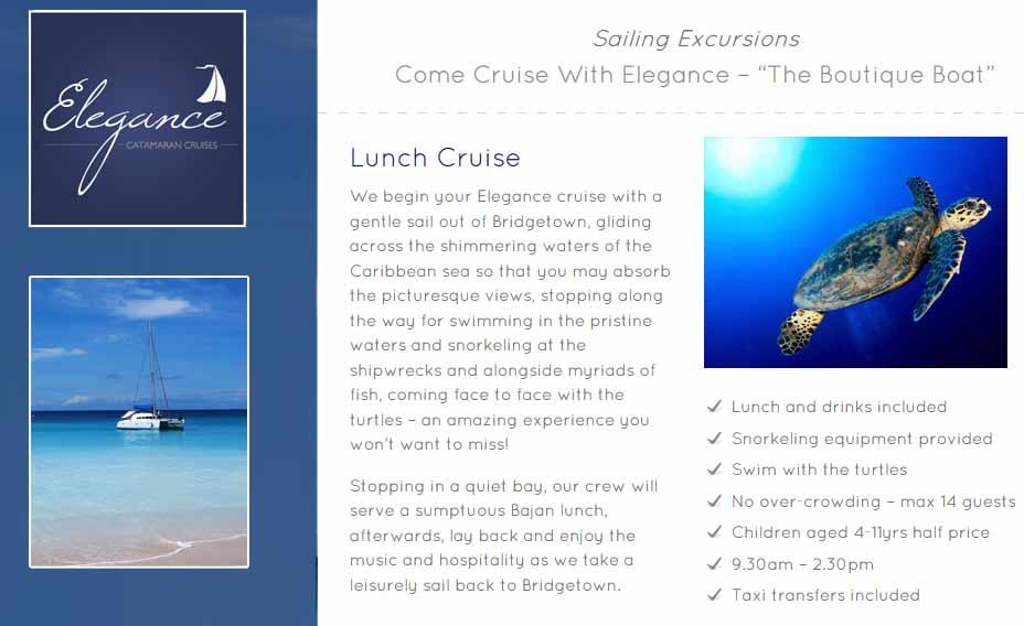 Programm, Barbados, Katamaran Ausflug, Karibik, Elegance Barbados Cruises, Carnival Kreuzfahrt, Reisebericht