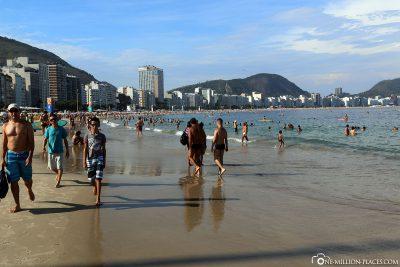 The Copacabana in Rio de Janeiro