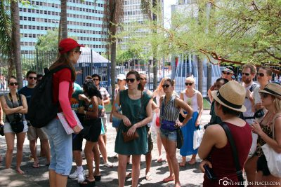 The start of the Free Walking Tour in Rio