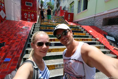 The Selaron Stairs in the Lapa district