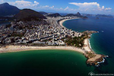 Der Blick auf Ipanema & die Copacabana