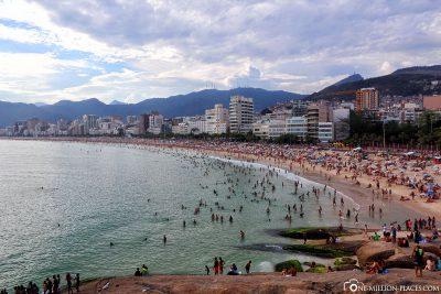 The beach of Ipanema