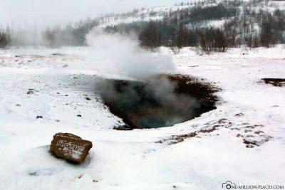 A small geyser