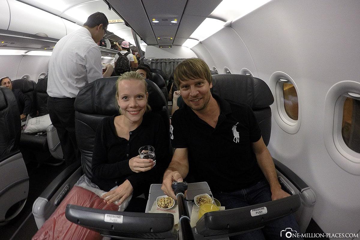 Business Klasse, Avianca, Südamerika, Reisebericht