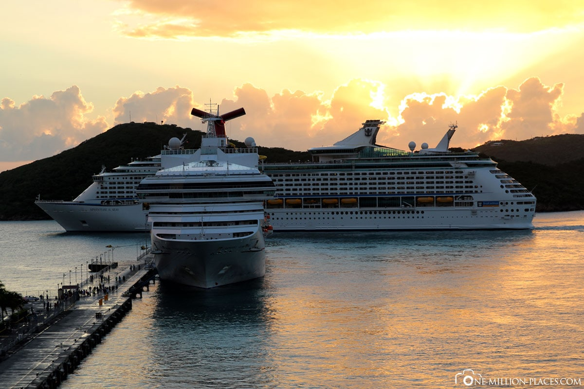 Ablegen der Kreuzfahrtschiffe, Saint Thomas, Inselrundfahrt, U.S. Vigin Islands, Karibik, Carnival Kreuzfahrt, Reisebericht