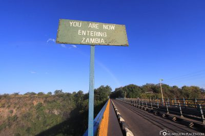 The border with Zambia