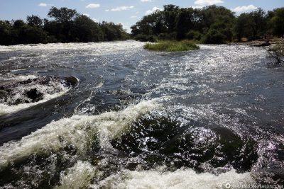 Oberhalb der Wasserfälle
