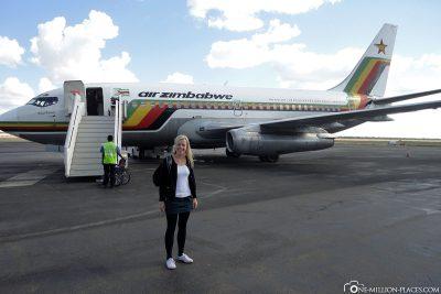 Arrival at Victoria Falls Airport